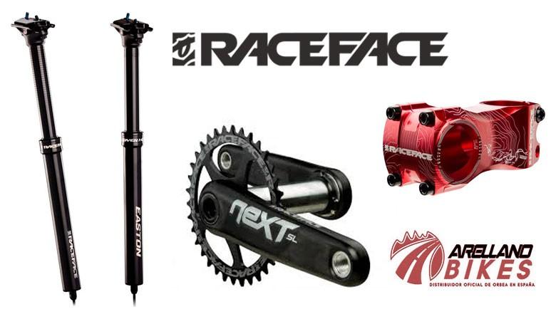 Componentes para Bicicletas RACEFACE. tijas,potencias,manillares